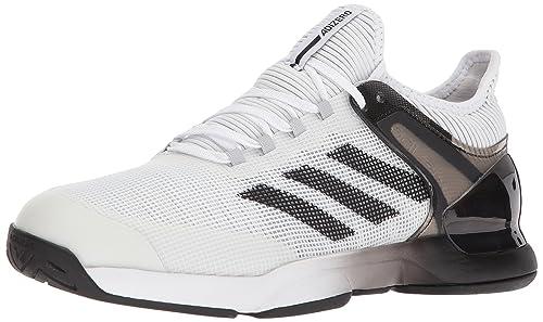 new concept 6d3f5 685c9 Adidas Performance Mens Adizero Ubersonic 2 Tennis Shoe, WhiteCore BlackGrey  Two