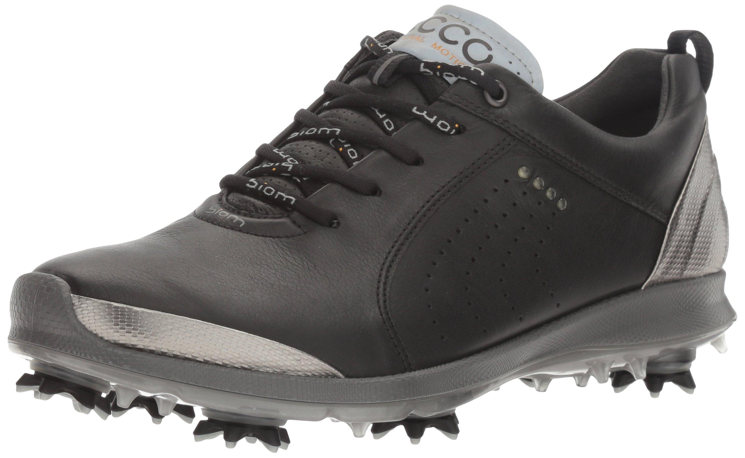 ECCO Women's BOIM G 2 Free Golf Shoe, Black/Buffed Silver, 5 M US by ECCO