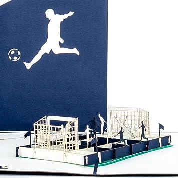 Schalke Tannenbaum.Pop Up Karte Fußballfan Blau Weiß 3d Fußball Karte Schalke Hamburg Berlin Fußball Geburtstagskarte Einladung