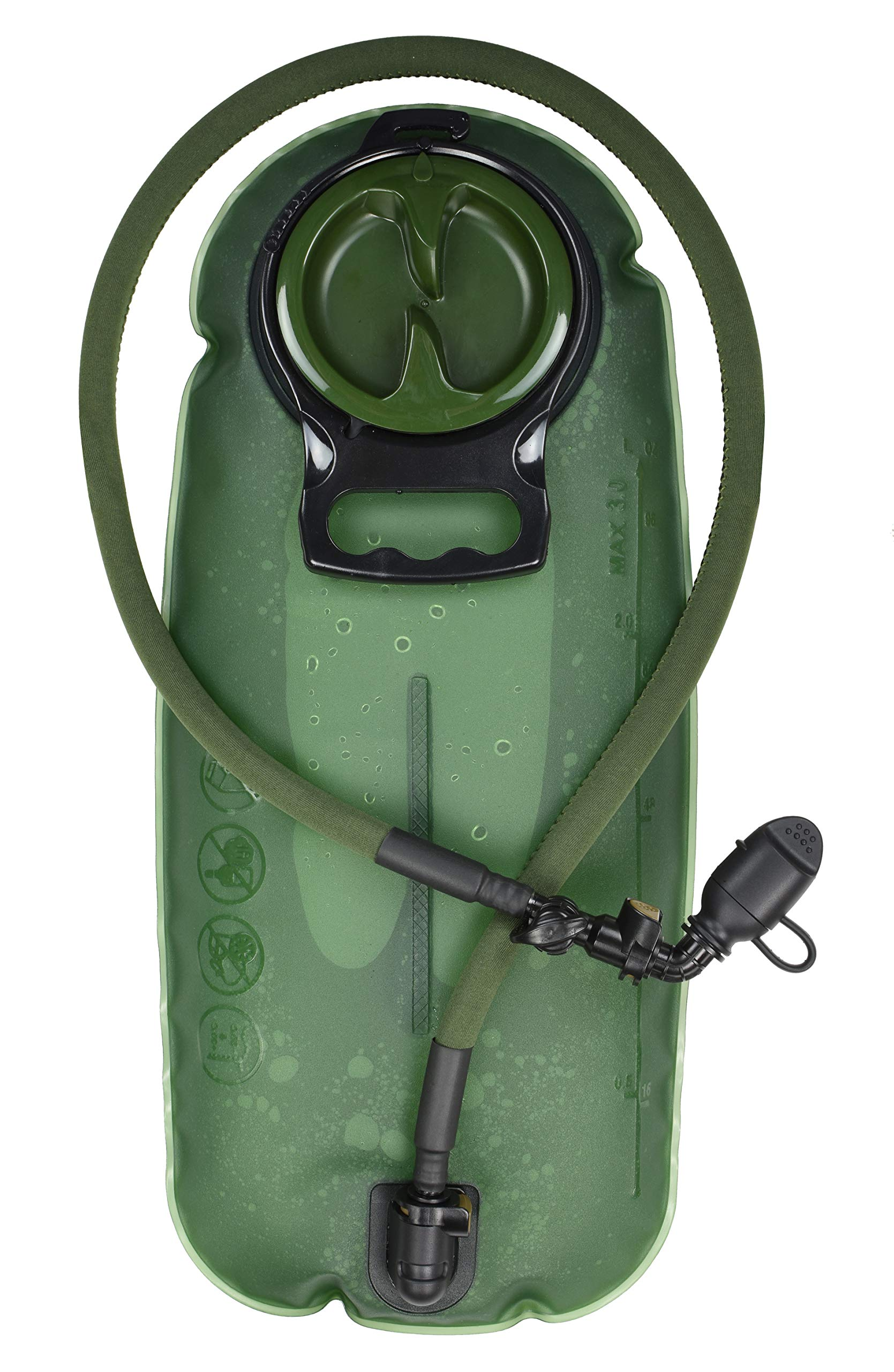 MARCHWAY 2L/2.5L/3L TPU Hydration Bladder, Tasteless BPA Free Water Reservoir Bag with Insulated Tube for Hydration Pack for Cycling, Hiking, Running, Climbing, Biking (3L Green 100oz) by MARCHWAY