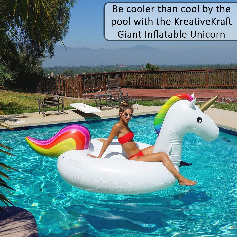 Gigante Inflable De Unicornio Para La Piscina | Flotador Hinchable Para Piscinas | Juguetes Hinchables Animales Barco | Bote Grande Con Válvulas ...