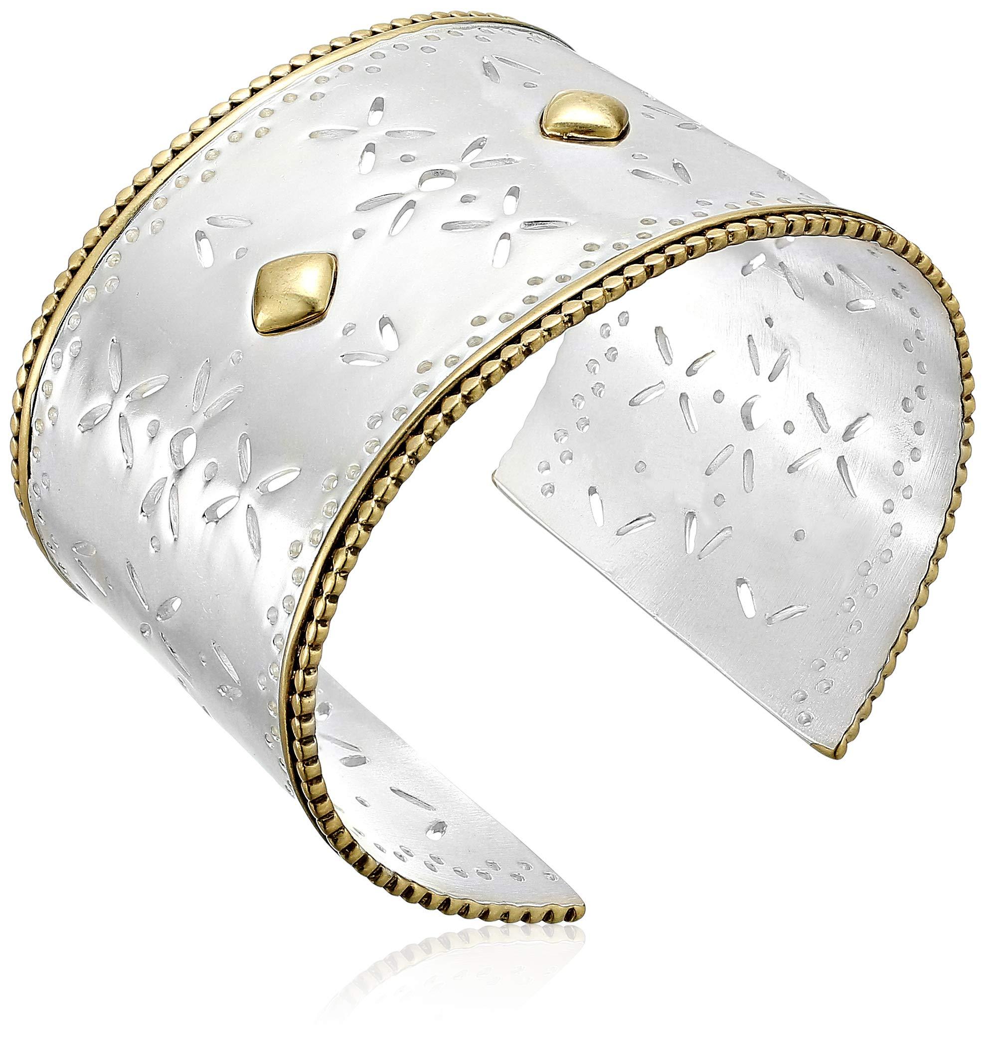 Lucky Brand Women's Tribal Statement Cuff Bracelet, Two Tone, One Size