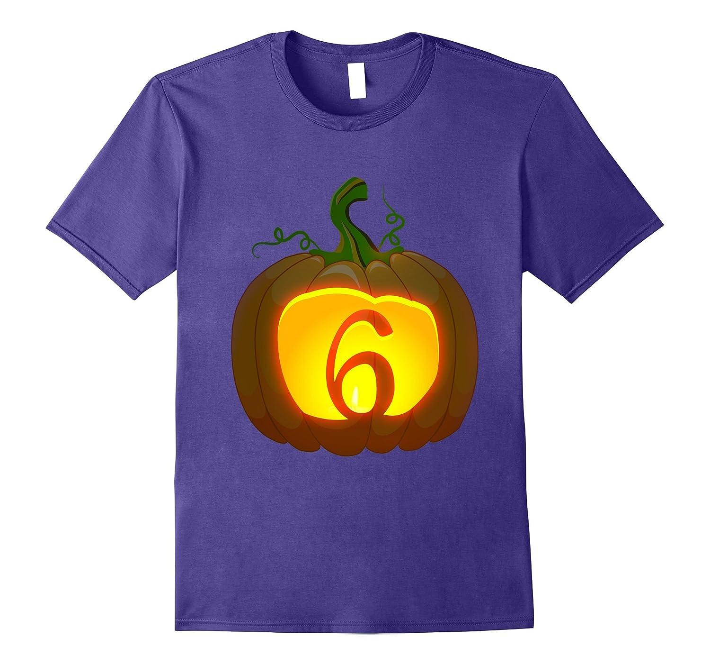 6th Birthday Halloween Pumpkin shirt 2011 birthday-4LVS