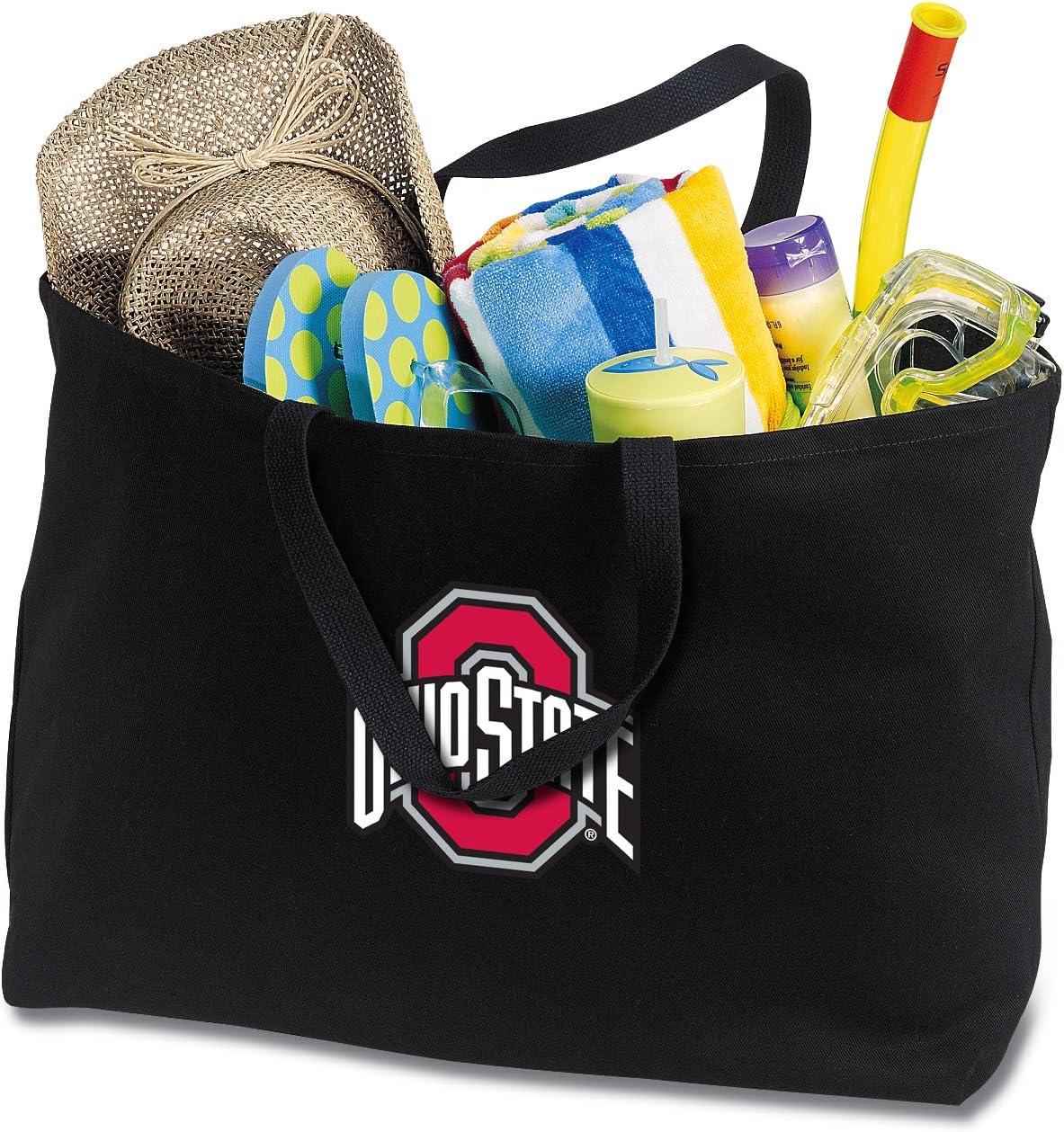 Broad Bay Jumbo OSU Buckeyes Tote Bag or Large Canvas Ohio State University Shopping Bag