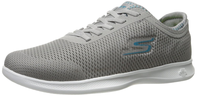 Skechers Women's Go Step Lite-Persistence Sneaker B01MUAQILO 10 B(M) US|Gray/Turquoise