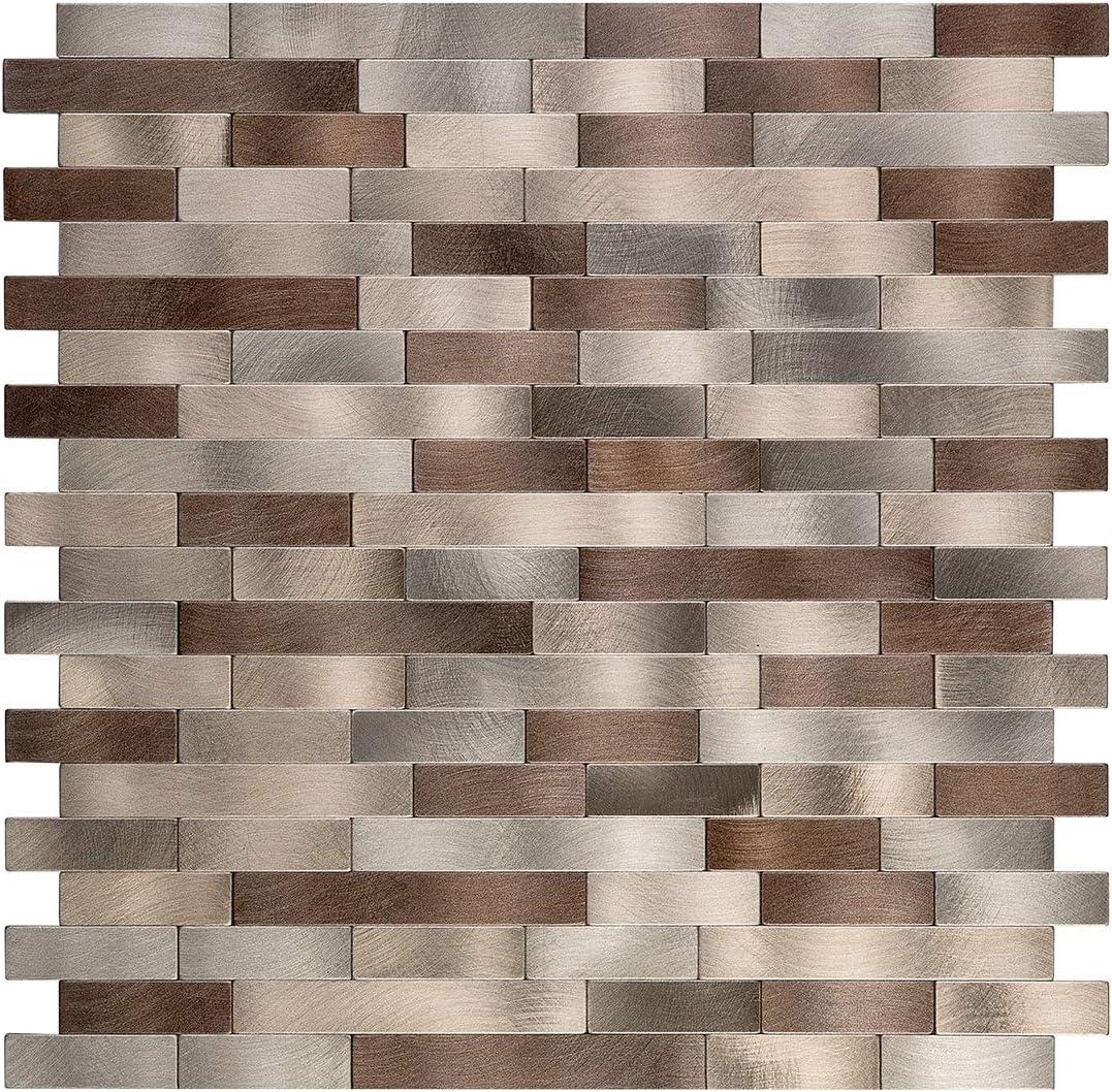 - Amazon.com: Decopus Metal Mosaic Tile Peel And Stick Backsplash