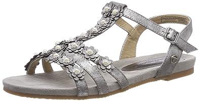 damen sandalen flach silber gr 37 tom tailer