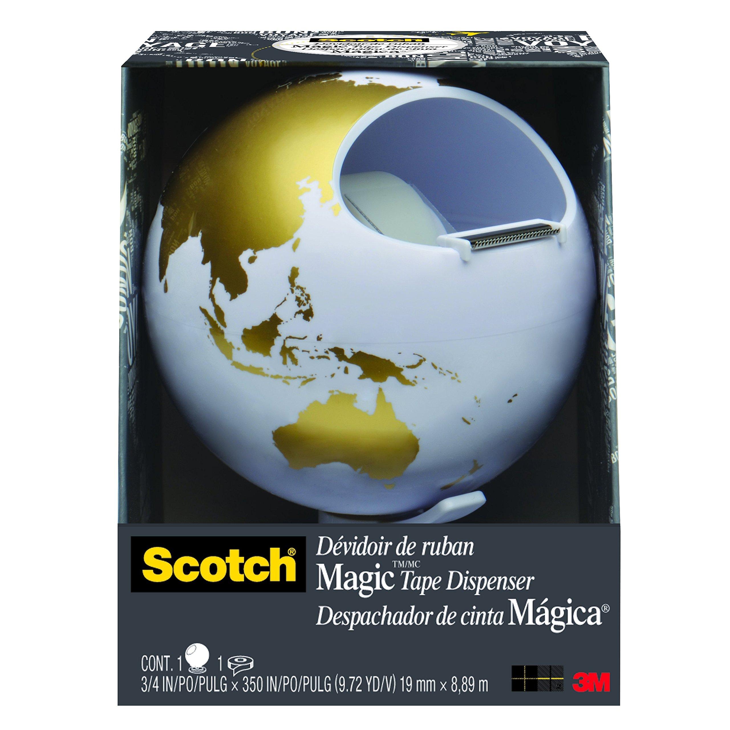 Scotch Dispenser, Globe, 1 Roll of Tape (C42-GLOBE) by Scotch Brand