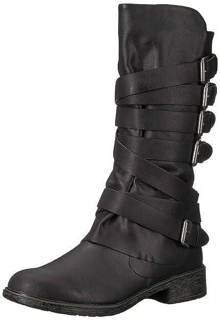 35b8d63d0e2eb5 Report Womens Huck Almond Toe Mid-Calf Fashion Boots