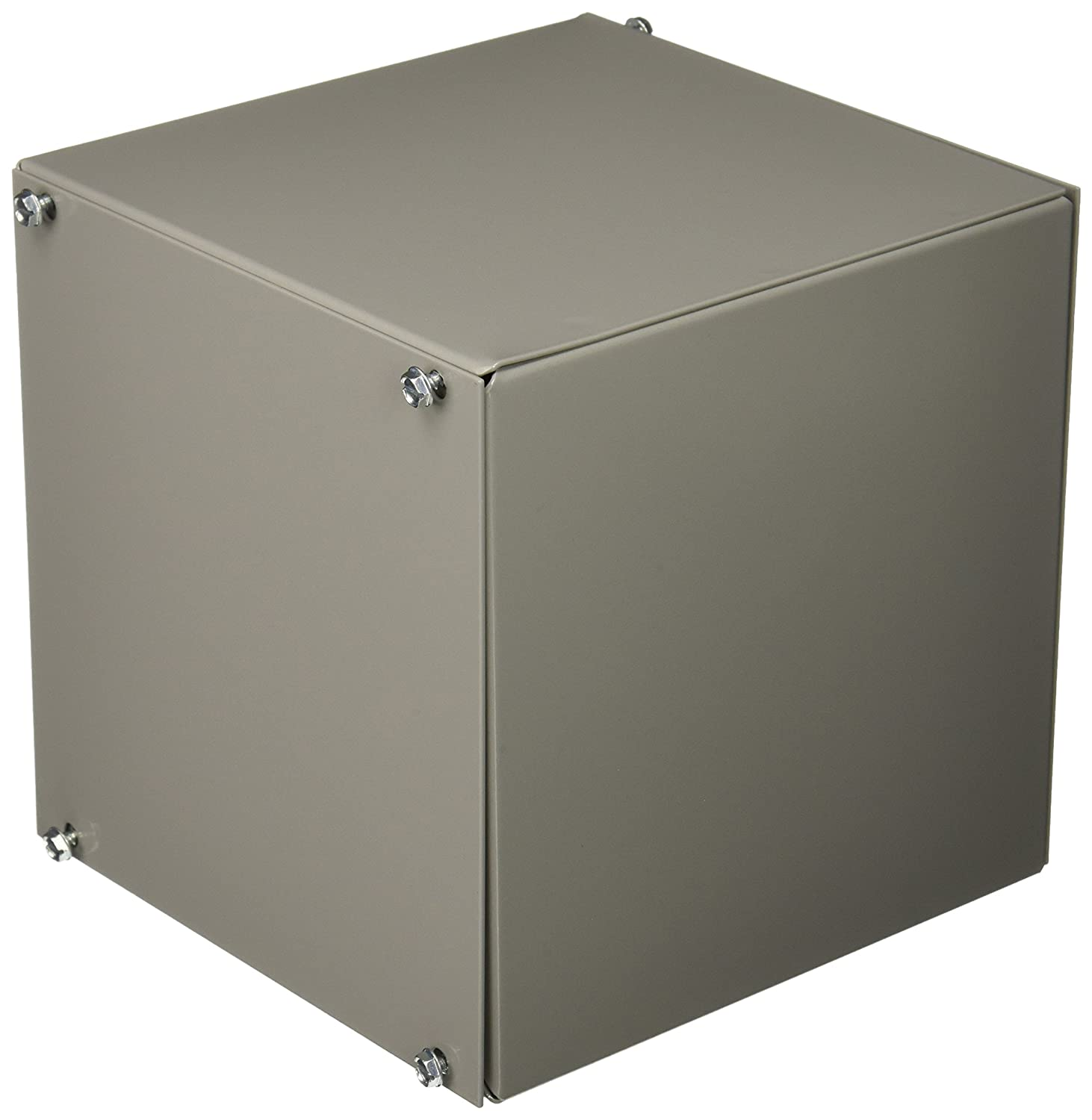 Natural Finish BUD Industries AU-1039 Aluminum Utility Cabinet 6 Width x 6 Height x 6 Depth