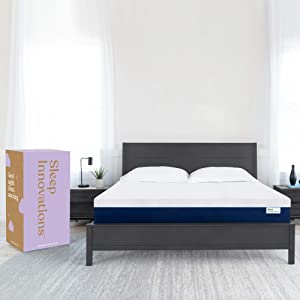 Sleep Innovations Marley California King 12 Inch Cooling Gel Memory Foam Mattress in a Box - Made in USA - Medium Firm - Pressure Relieving
