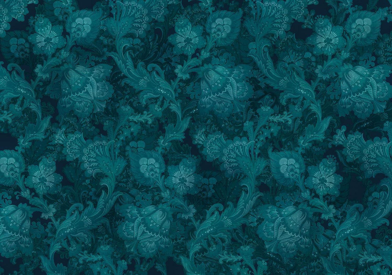 Jugendstil Flur Dekoration XXL Wohnzimmer Gr/ö/ße 400 x 280 cm Tapete Breite x H/öhe Schlafzimmer | HX8-055 Komar Vlies Fototapete FLEURS DE NUIT B/üro