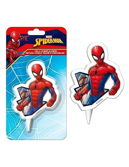 Coolp - Juego de 12 Velas de cumpleaños Spiderman 7,5 cm ...