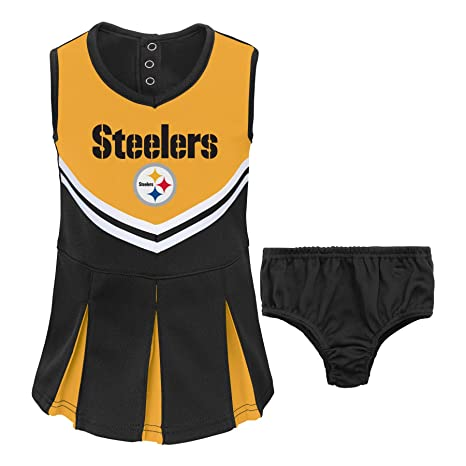 NFL Pittsburgh Steelers Girl s Toddler Two Piece Cheerleader Outfit 453de20e6