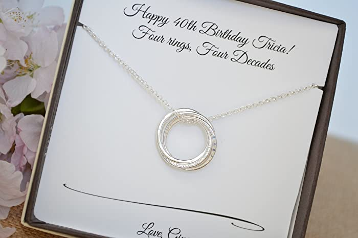 amazon com 40th birthday gift for sister 4 sisters necklace 4