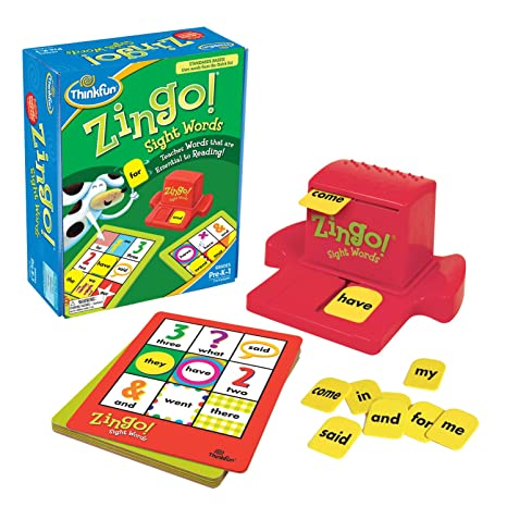 Amazon Com Think Fun Zingo Sight Words Early Reading Game Toy Of