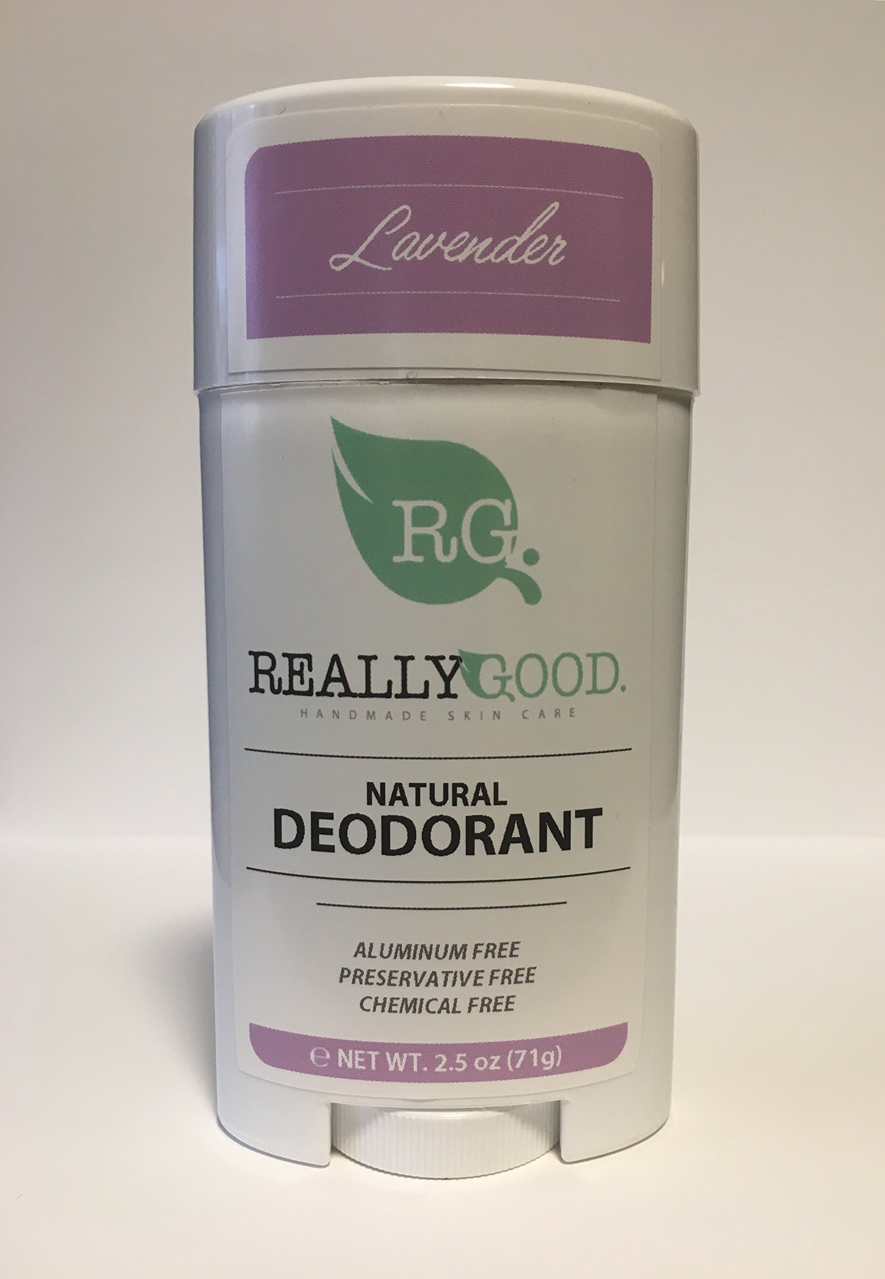 Really Good Skin Care All Natural, Aluminum Free Deodorant, 2.5 oz - Variety 5-Pack - Preservative and Chemical Free, Vegan Odor Protection
