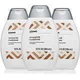 Amazon Brand - Solimo Coconut Oil Conditioner, 13 fl. Oz (Pack of 3)