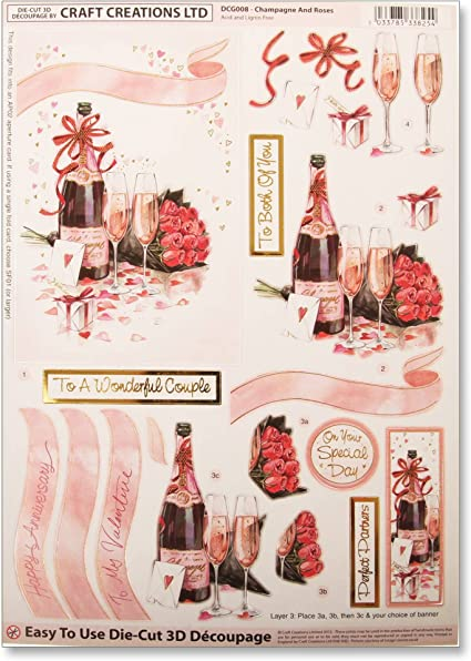 A4 BEAUTIFUL DIE CUT DECOUPAGE ** WRAPPING THE PRESENTS **