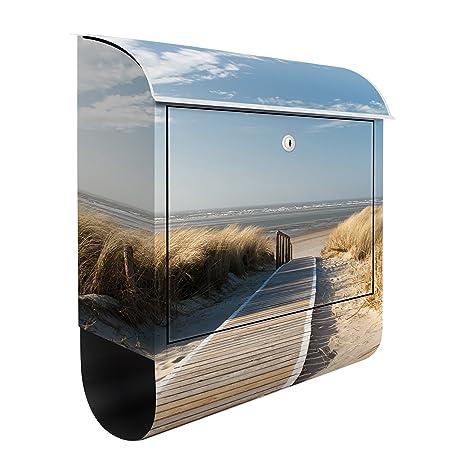 Buzón de diseño Baltic Sea beach 39x46x13cm, acero ...