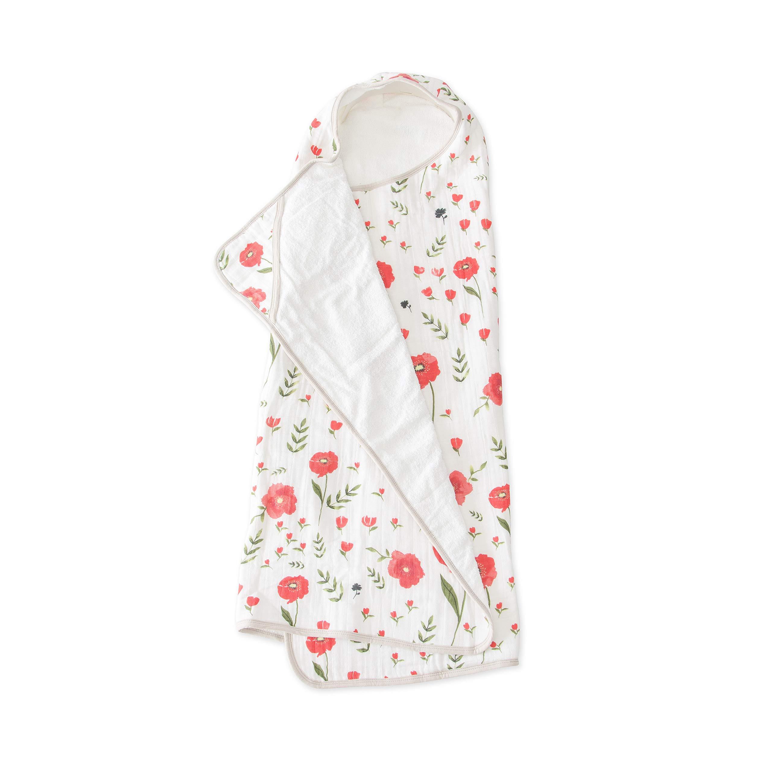 Little Unicorn Large Cotton Hooded Towel - Summer Poppy by Little Unicorn