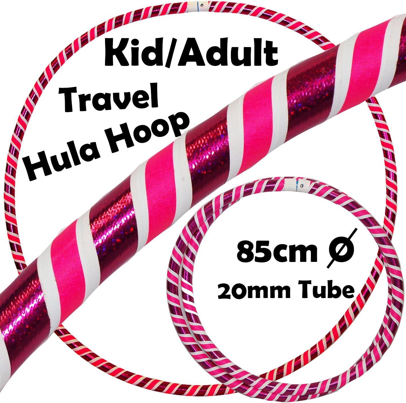 Pro Kids Collapsible Hula Hoop Pliant Diam:85cm Lest/é: 600g pour Aerobic et Hoop Danse Ultra-Grip//Glitter Sac de Voyage 4 Pi/èces Pliable Fitness Enfant Voyage Hula Hoop Pond/ér/é