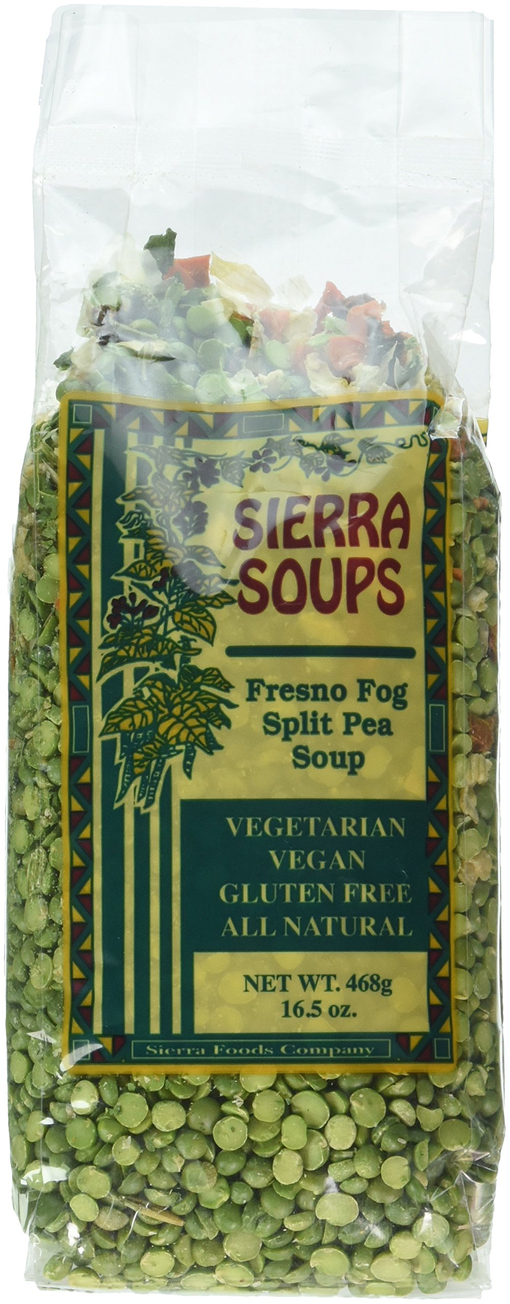 All Natural Gluten Free Vegetarian Vegan Fresno Fog Split Pea Soup Mix Pack of 2 468 g 16.5 oz each