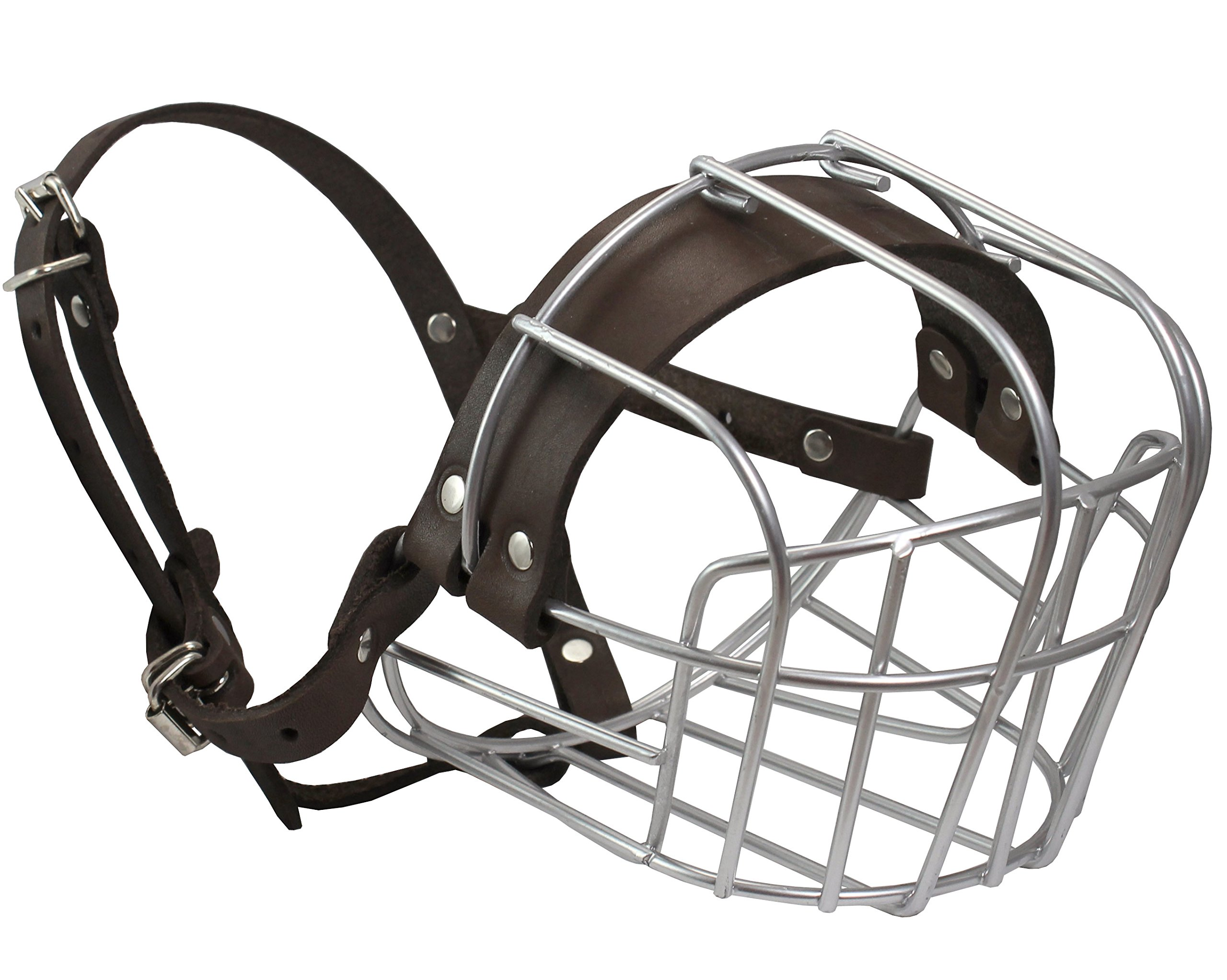 Dogs My Love Metal Wire Basket Dog Muzzle Rottweiler Large Male. Circumference 16.5'', Length 4.5''