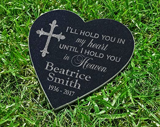 personalized pet memorial heart shaped stone for dog cat horse in