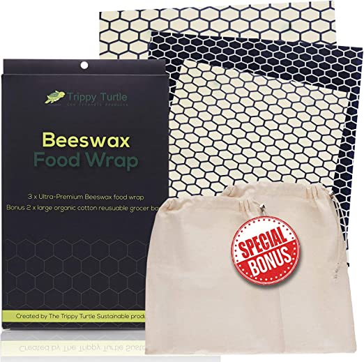 Envoltorio de cera de abeja – este paquete premium de 3 Plus Bonus ...