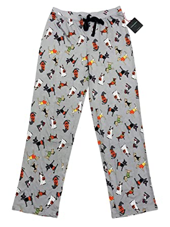 6e207b9645a Festive Happy Halloween Dogs in Costume Womens Novelty Sleepwear Pajama  Pants (X-Small)