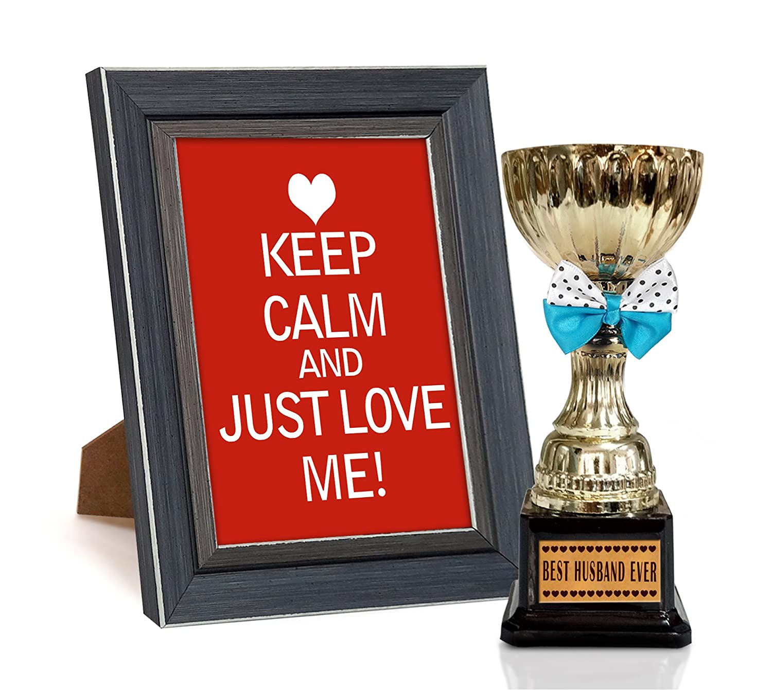 Buy Tied Ribbons \'Valentine\'s Day\' Photo Frame with Trophy (Wood ...