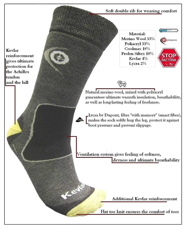 eXPANSIVE TREKKING PROTECT SOCKS HIKING Kevlar Merino Wool Coolmax