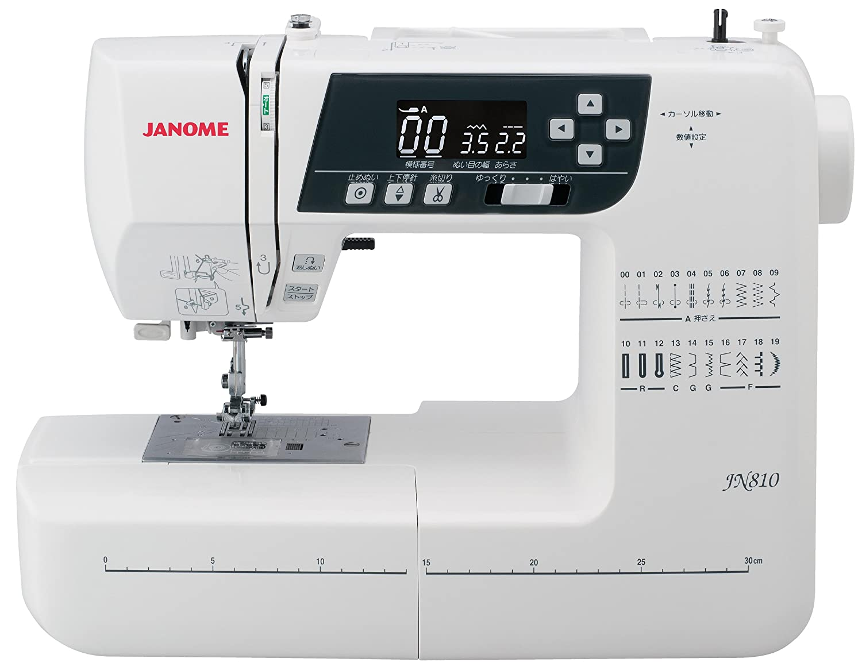 ジャノメ(JANOME) コンピュータ ミシン ワイドテーブル説明DVD付き JN810  ホワイト B00N9SGOLO