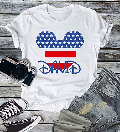 SIZE 12 or 18 Mo Disney American Flag Mickey Mouse Infant//Toddler Boys T-Shirt
