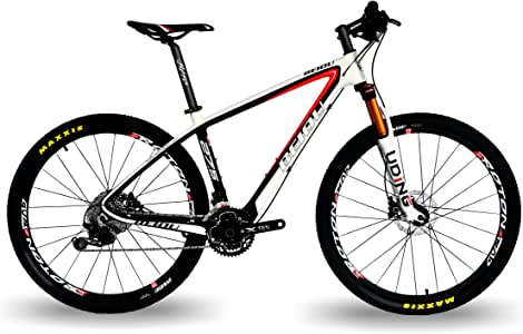 "BEIOU Carbon Fiber 27.5 Mountain Bike 10.7kg / 29"" Hardtail Bicycle 2.10"" Tires Shimano DEORE M6000 30 Speed XC/Trail MTB 650B / 29er T800 Ultralight Frame Matte 3K CB020"