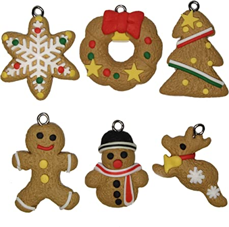 20Pcs Antique Metal Gingerbread Man Cookies Charms Pendant Jewelry Making Craf`