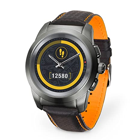 MyKronoz ZeTime Premium Reloj Inteligente híbrido 44mm con Agujas mecánicas sobre una Pantalla a Color táctil