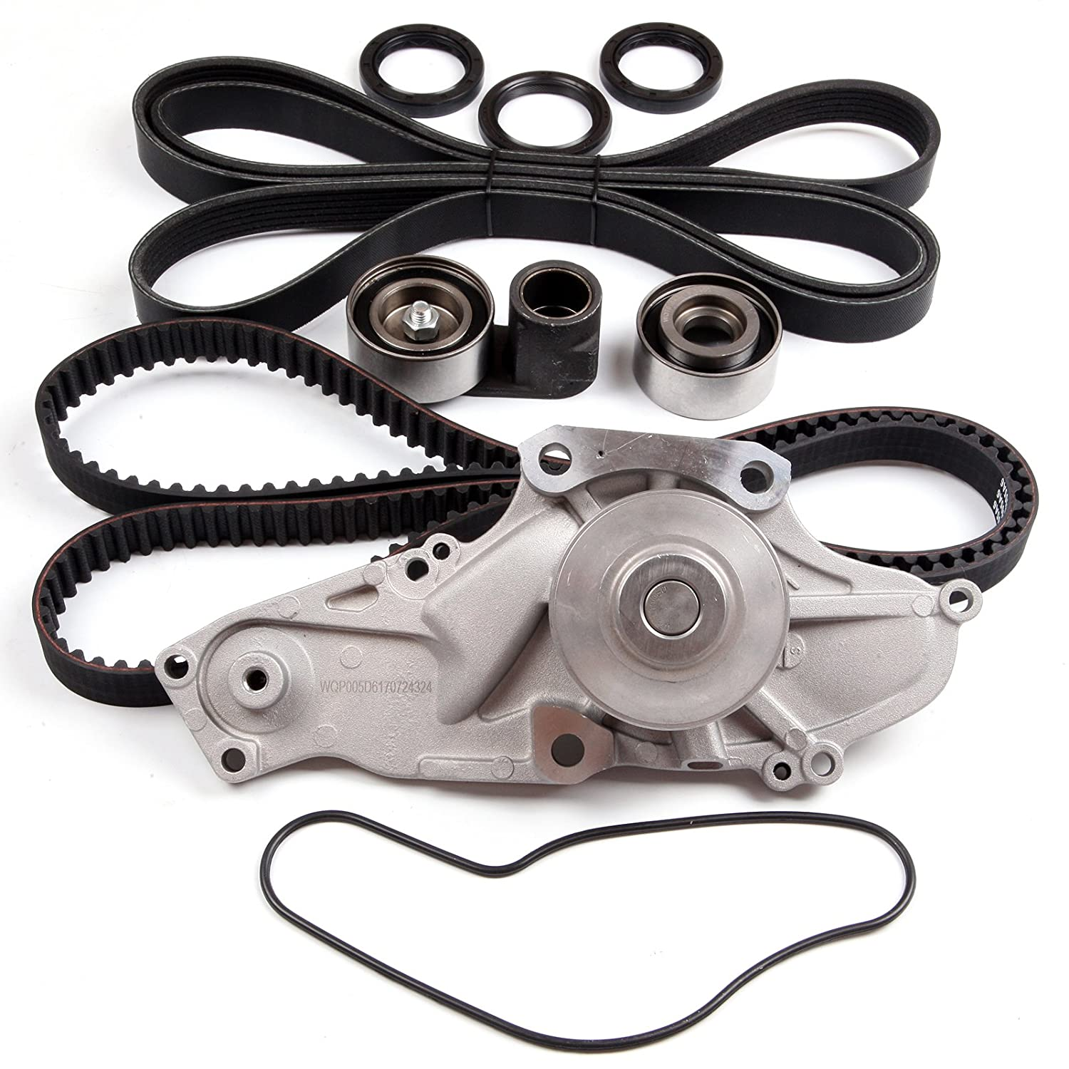 ECCPP Timing Belt W/Water Pump Thermostat Kit For 2003-2014 Honda Acura 3.0L 3.5L V6 110323-5211-1731021
