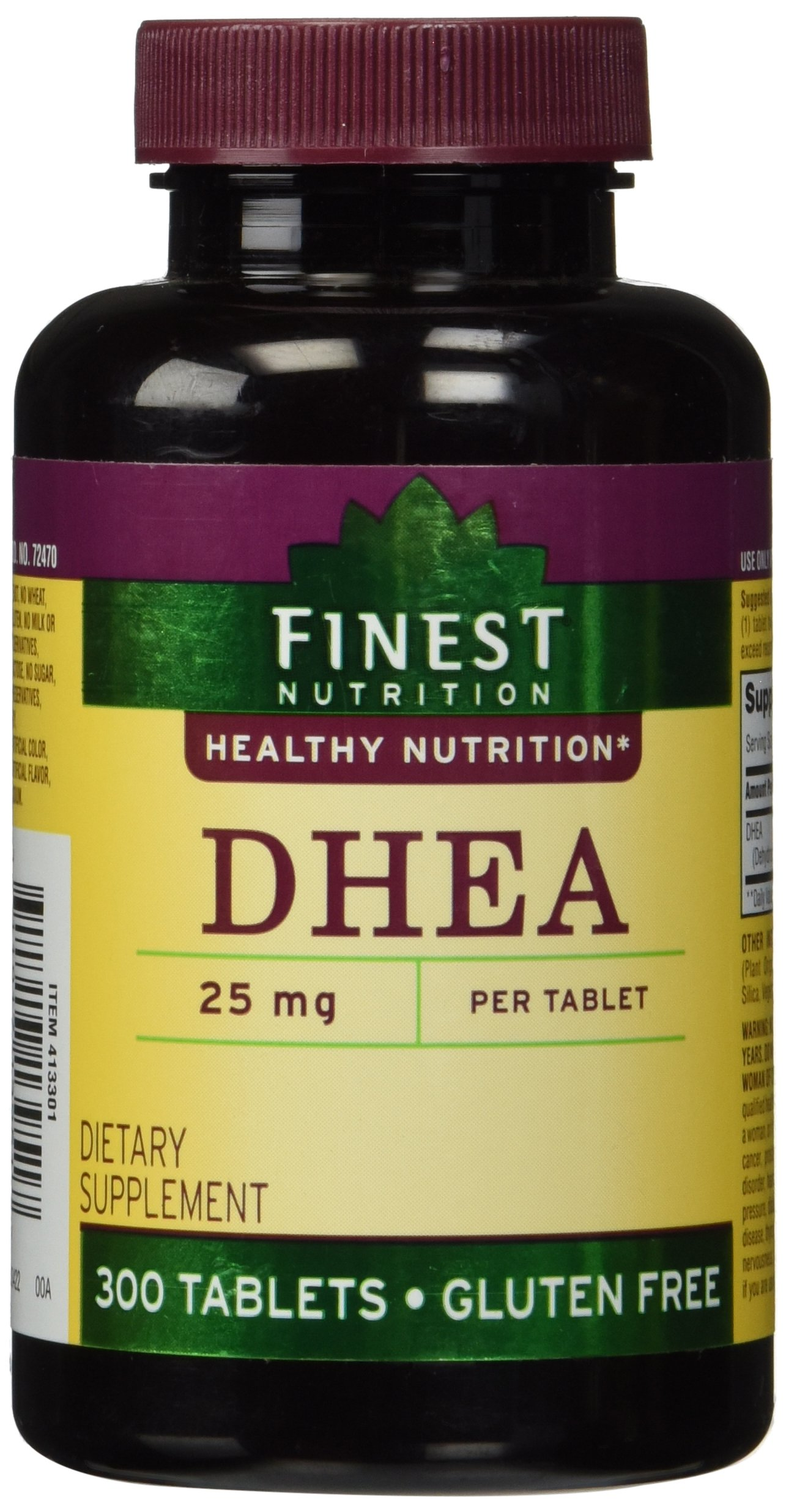Amazon.com: Finest Nutrition DHEA 25mg Tablets 300 ea: Health & Personal Care