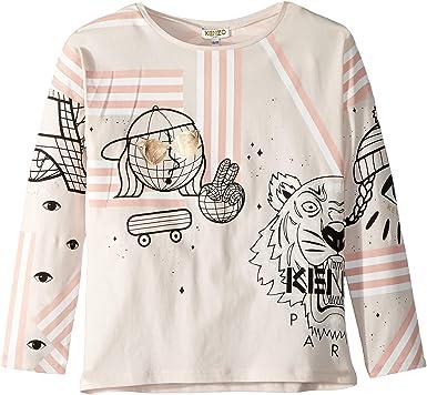 4346133f0 Amazon.com: Kenzo Kids Womens Multi Iconics T-Shirt (Big Kids): Clothing