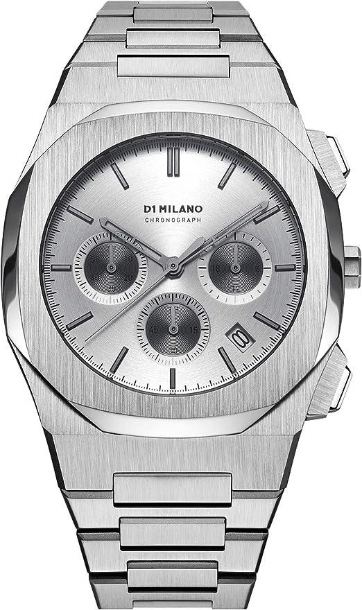 D1 milano orologio al quarzo charcoal grey da uomo analogico quarzo con cinturino in acciaio chbj03