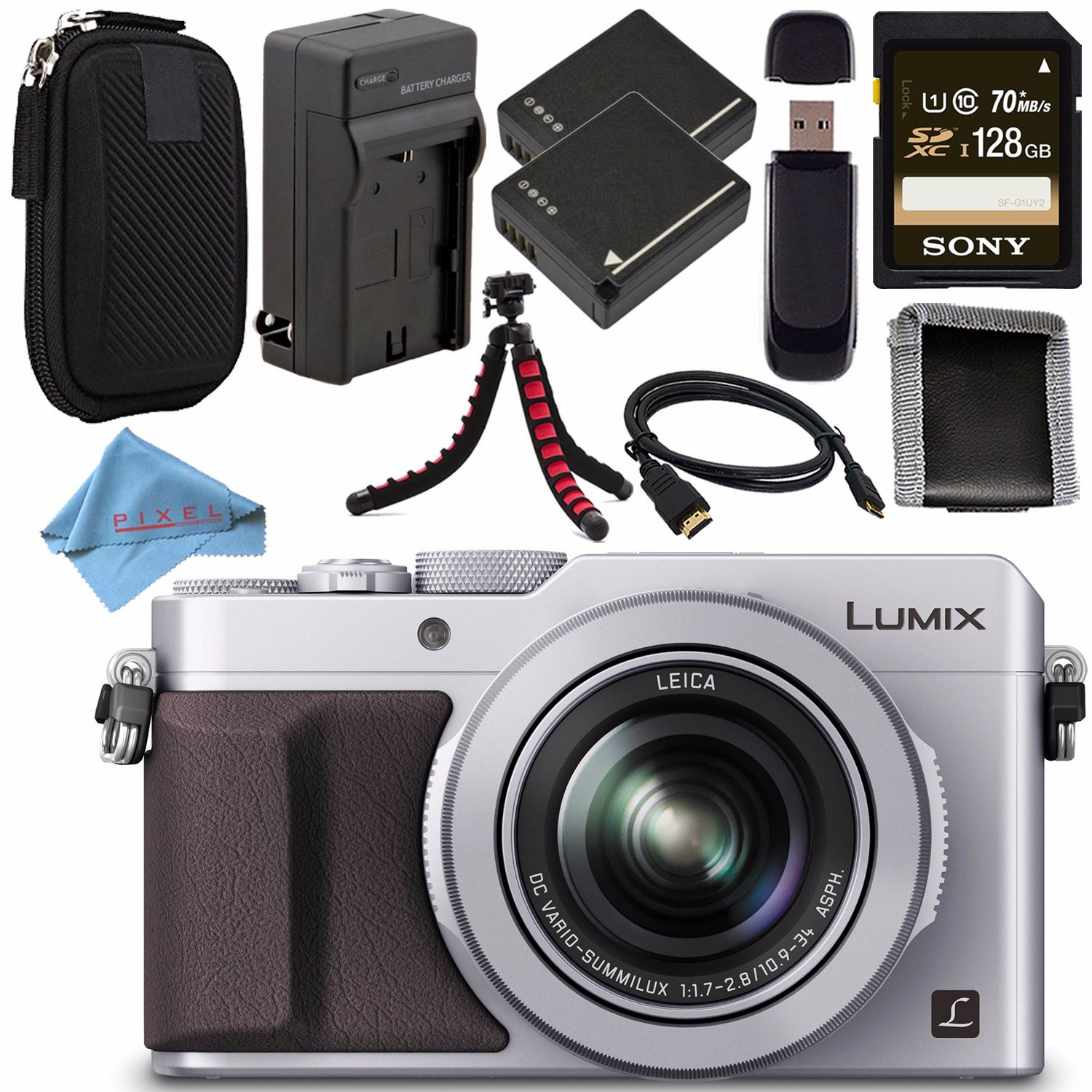 Amazon.com: Panasonic Lumix DMC-LX100 dmc-lx100s (Plata) + ...