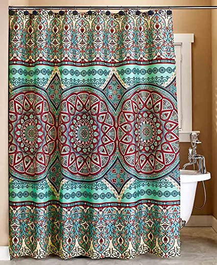 The Lakeside Collection Taj Medallion Shower Curtain