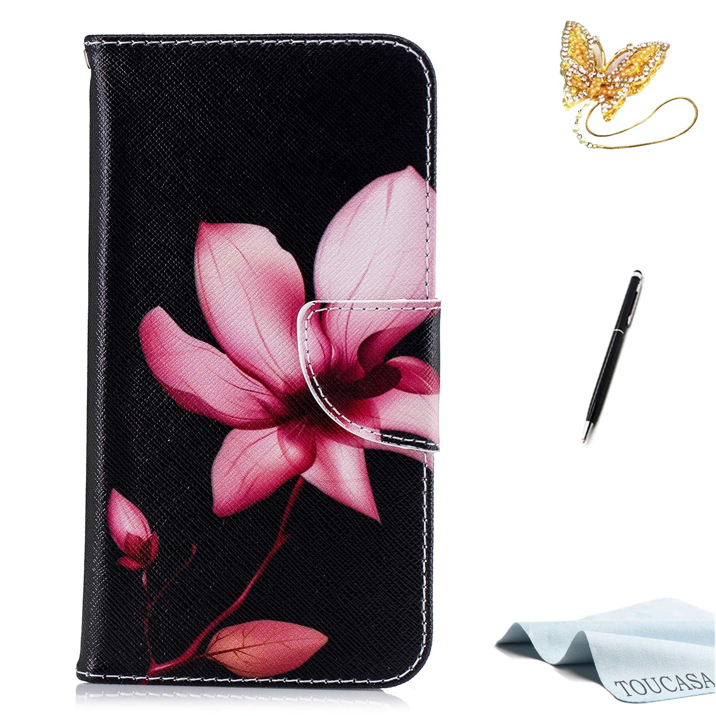 Coque Xiaomi Redmi Note 5, Housse Xiaomi Redmi Note 5, TOUCASA Coque Cuir PU Luxe Portefeuille à aimant Antichoc Béquille Protection Complète Fente Carte Peinture à l'huile Matériau Toile Premium Motif Étui de Protection pour Xiaomi Redmi Note 5-Coque Papi