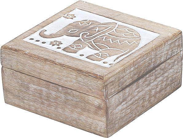 Marrakesch Awa - Caja de almacenaje con tapa (17 cm, madera), diseño oriental: Amazon.es: Juguetes y juegos