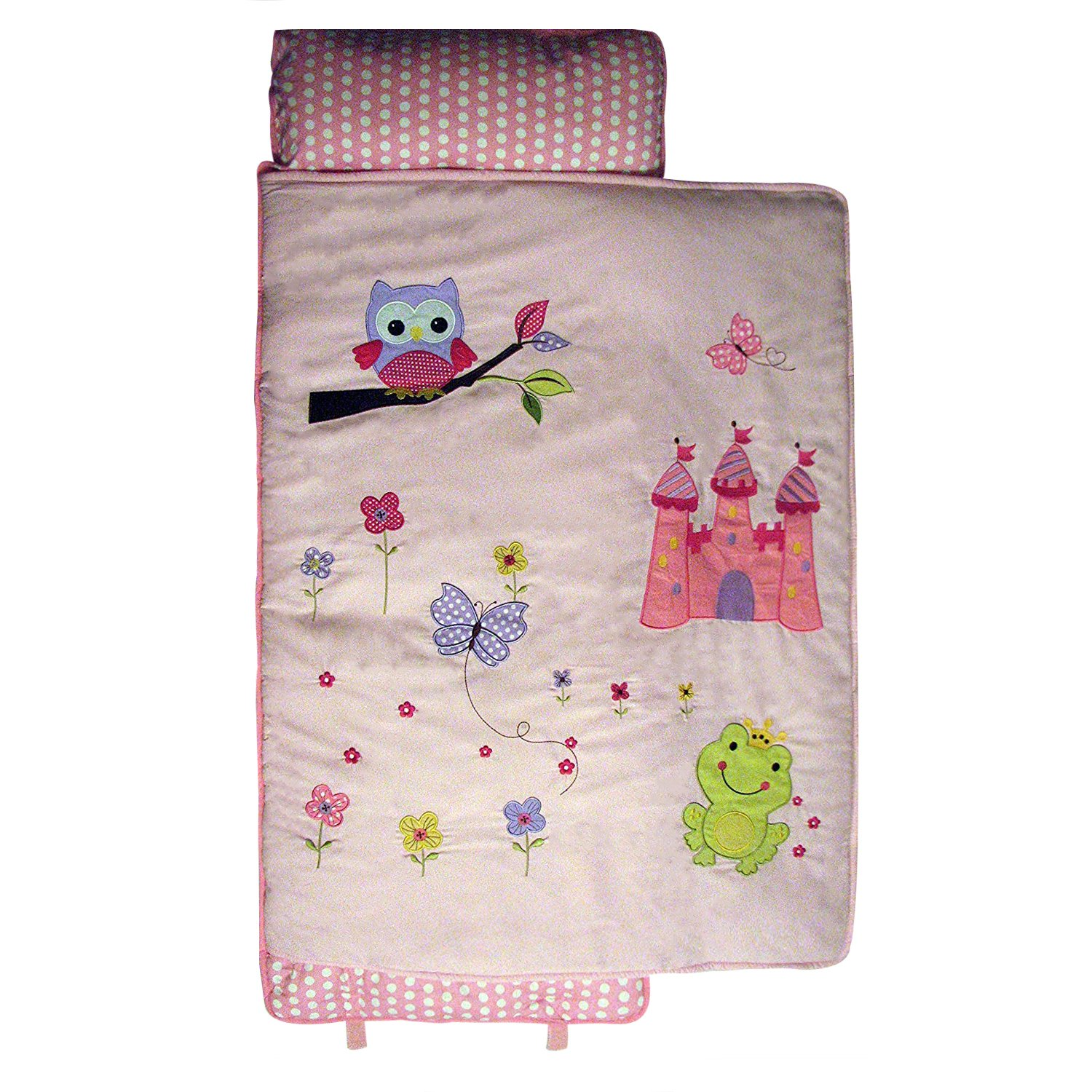 SoHo Nap Mat , Pink Owls Castle (All Hand Embroidery)