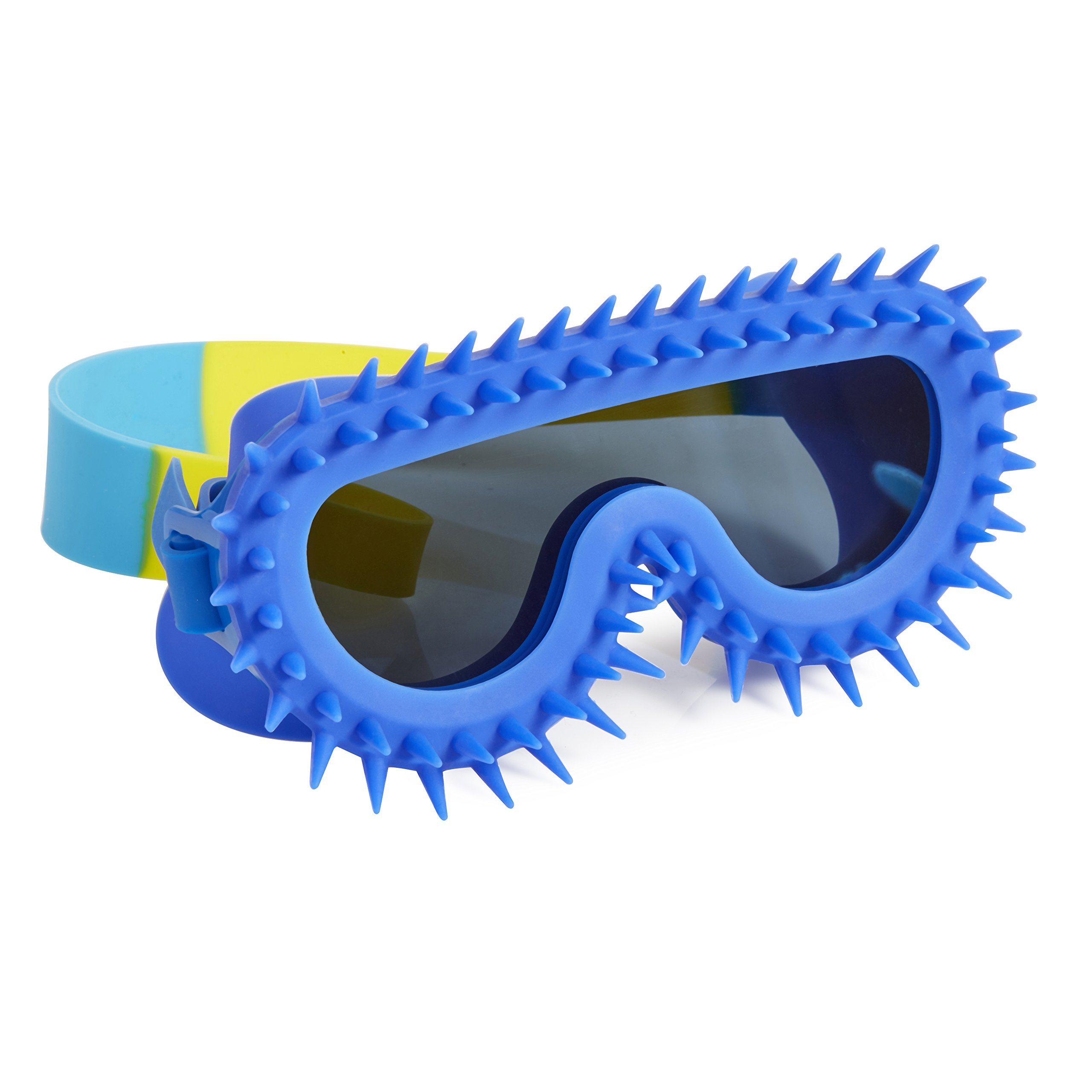 Spiky Mohawk Goggles For Kids by Bling2O - Anti Fog, No Leak, Non Slip and UV Protection - Punk Rock Royal Color Fun Water Accessory Includes Hard Case