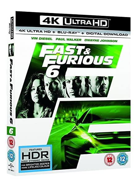 Amazon in: Buy Fast & Furious 6 (4K UHD + Blu-ray+ Digital Download