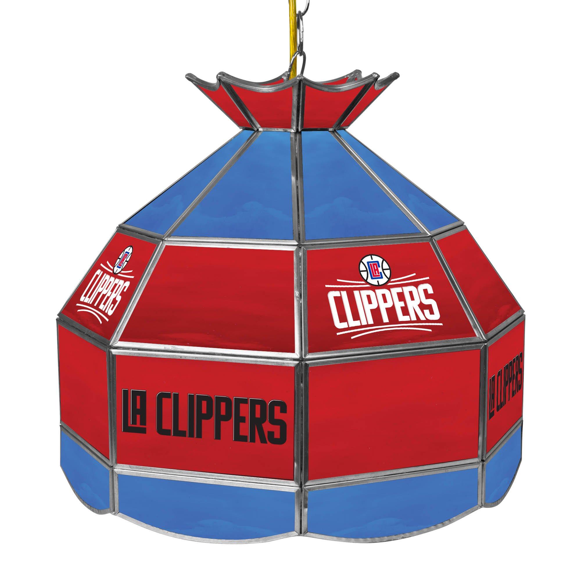 NBA Los Angeles Clippers Tiffany Gameroom Lamp, 16''